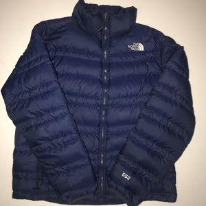 Mens North Face Puffer jacket 550 Blue Mens Medium